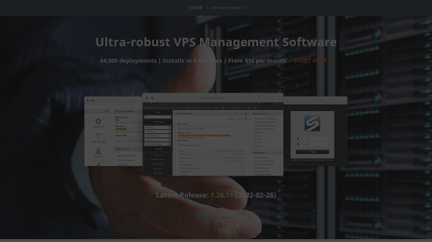 SolusVM Landing Page