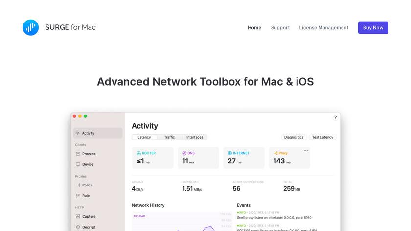 Surge for Mac Landing Page