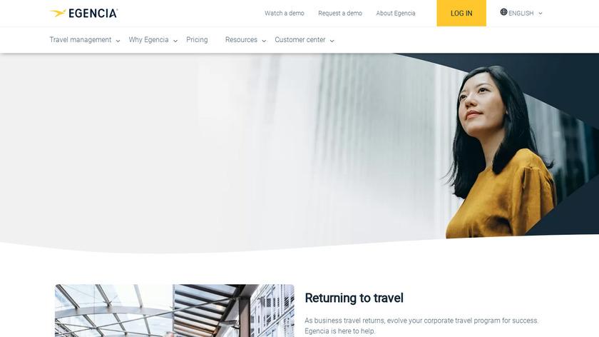 Egencia Landing Page
