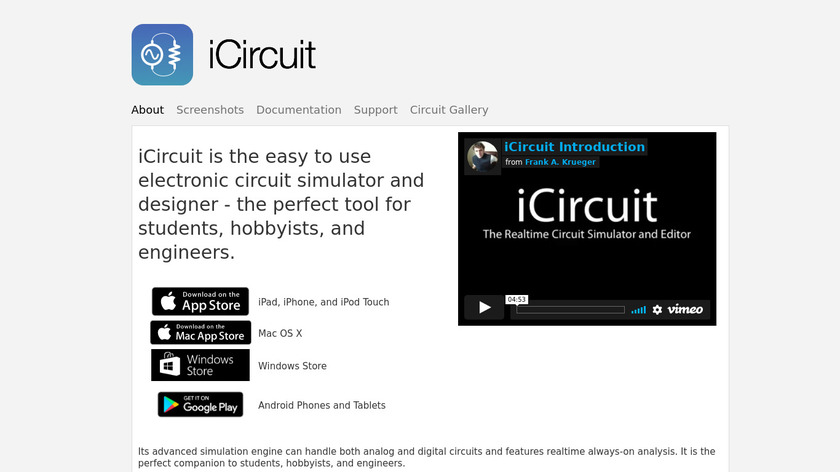 iCircuit Landing Page