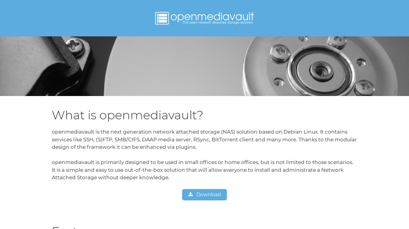 OpenMediaVault Landing Page