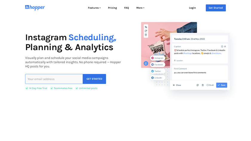 HopperHQ.com Landing Page