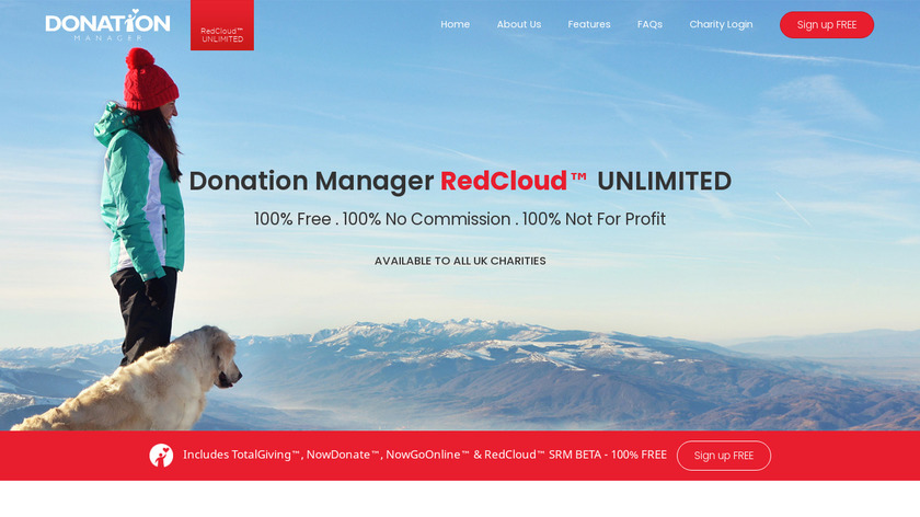 Donation Manager RedCloud Suite Landing Page