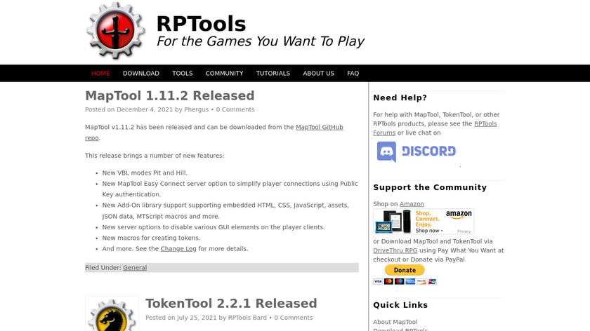 MapTool Landing Page