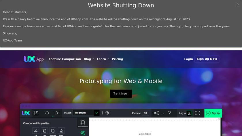 UX-App Landing Page