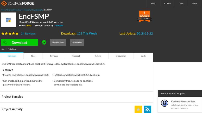 EncFSMP Landing Page