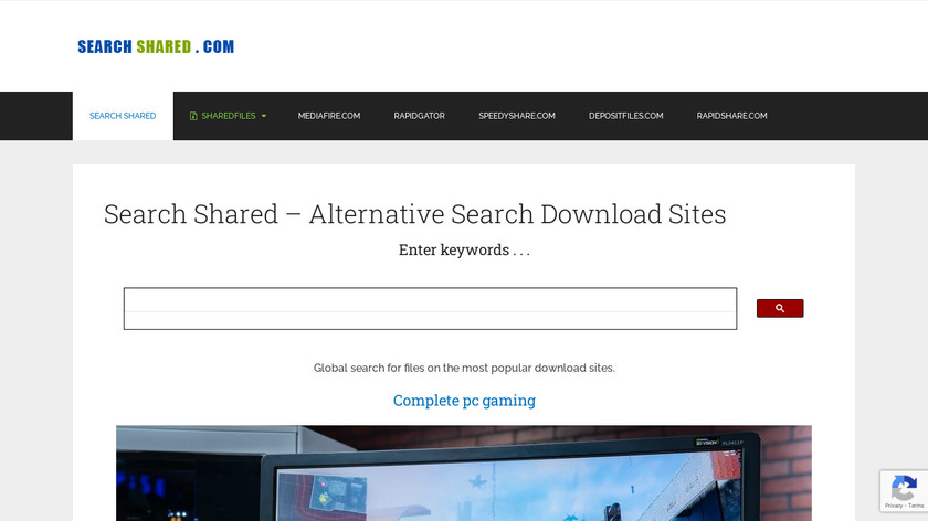 Rapidshare Search Shared Files Landing Page