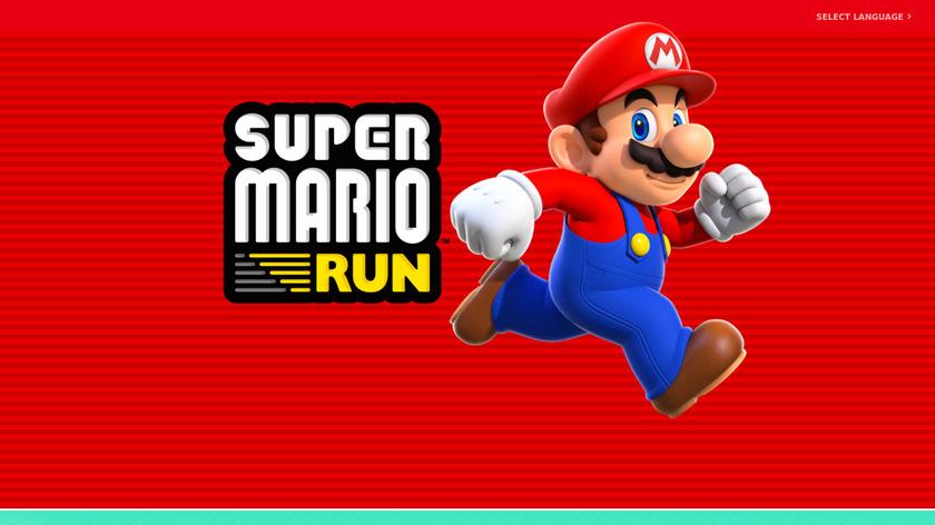Super Mario Run Landing Page