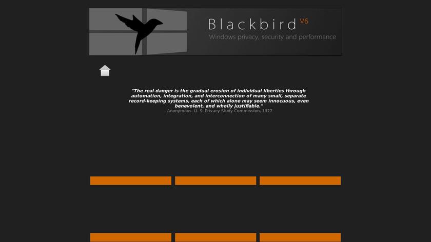 Blackbird Landing Page