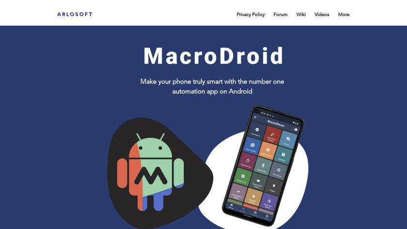 MacroDroid Landing Page