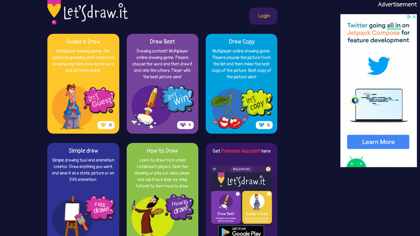 LetsDraw.It Landing Page