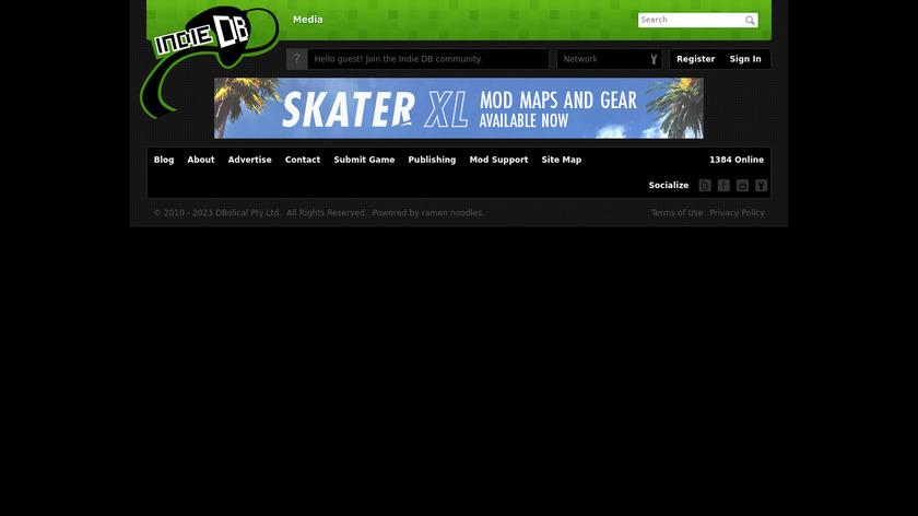 Indie DB Landing Page