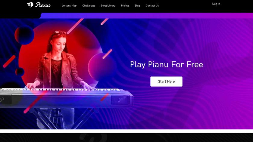Pianu Landing Page