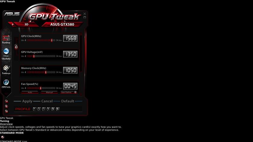 ASUS GPU Tweak Landing Page