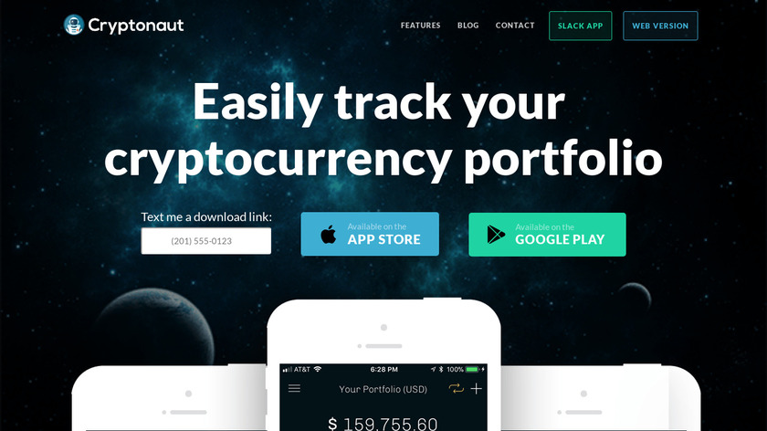 Cryptonaut Landing Page