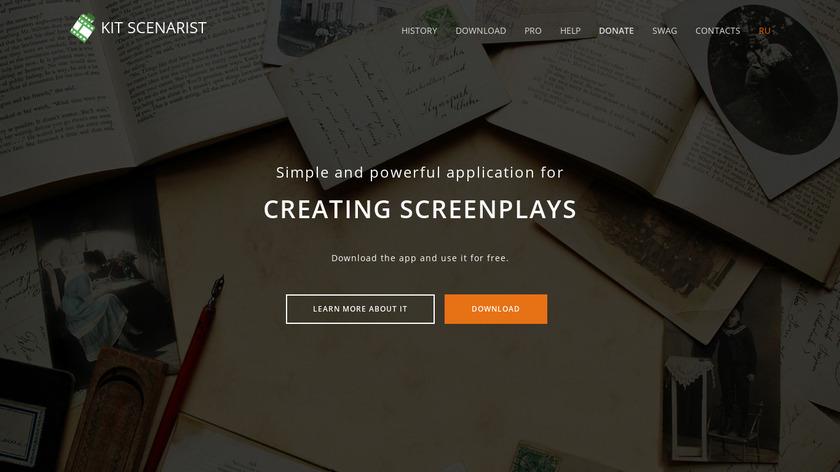 KIT Scenarist Landing Page