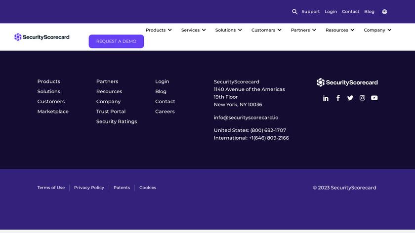 SecurityScorecard Landing Page