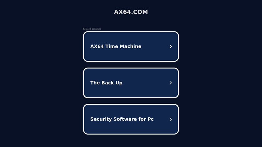 AX64 Time Machine Landing Page