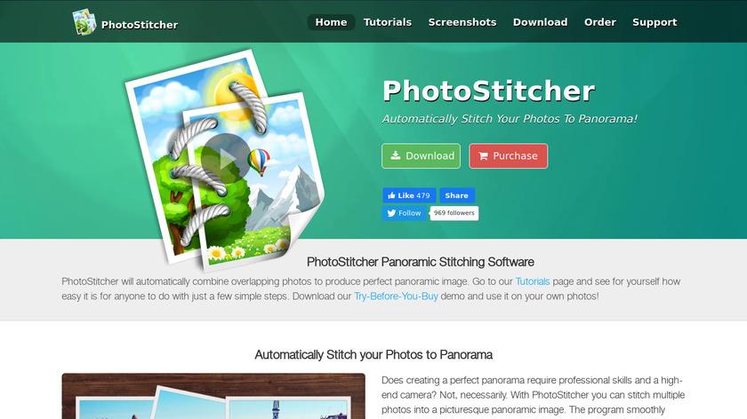 PhotoStitcher Landing Page