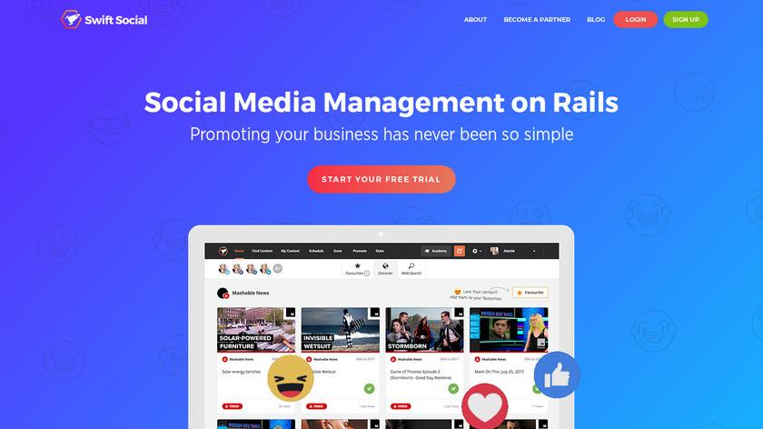 Swift Social Landing Page