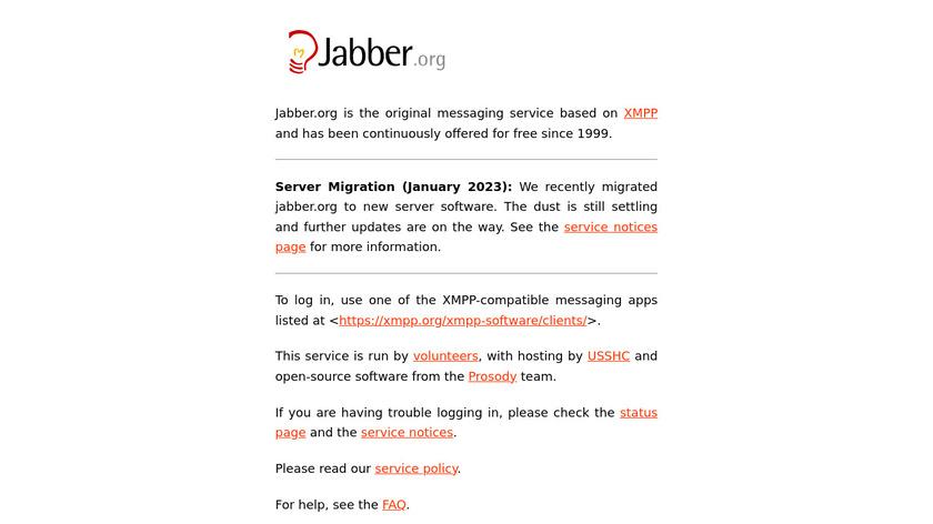 Jabber Landing Page