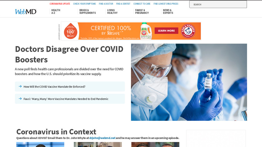 WebMD Landing Page