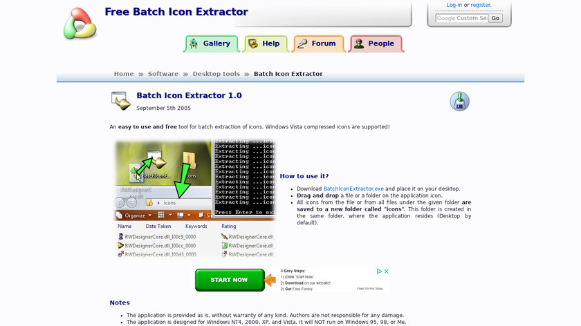 Batch Icon Extractor Landing Page