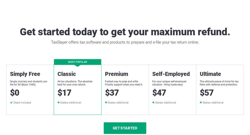 TaxSlayer.com Pricing
