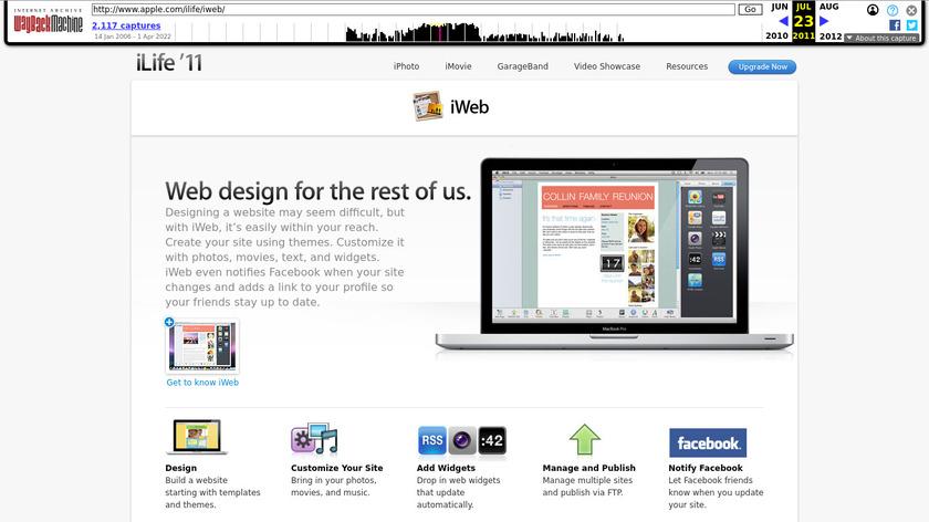iWeb Landing Page
