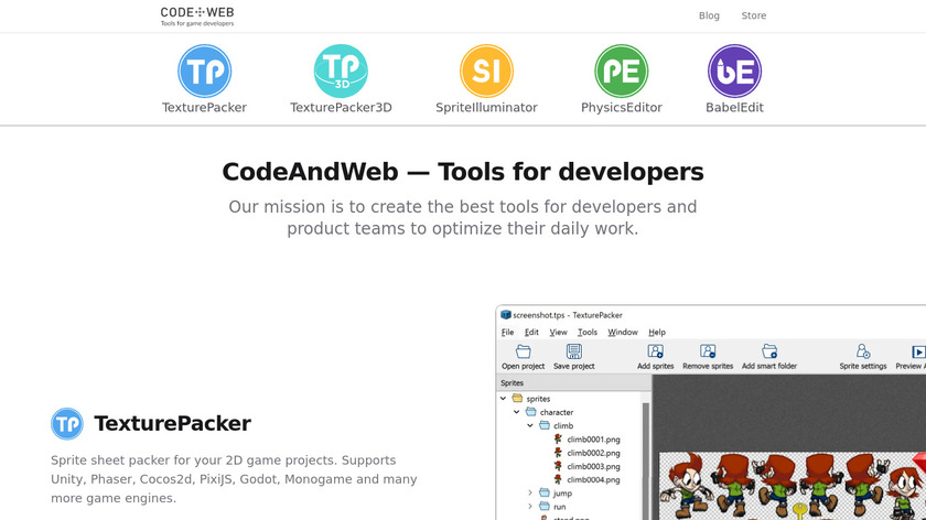 TexturePacker Landing Page