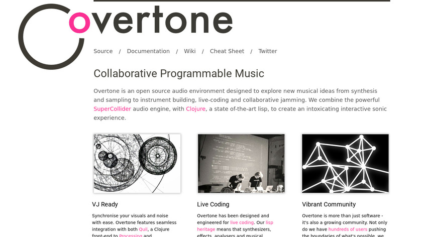 Overtone Landing Page