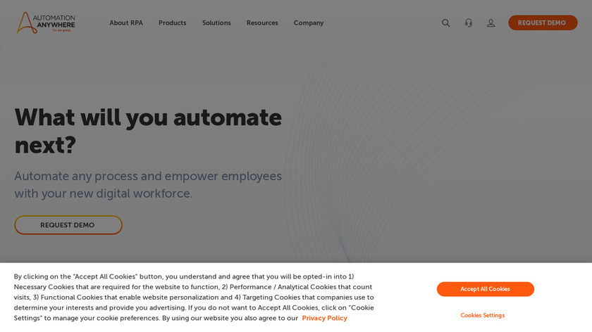Automation Anywhere Landing Page