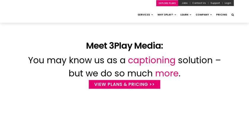 3PlayMedia Landing Page