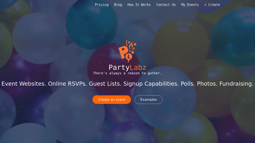PartyLabz Landing Page