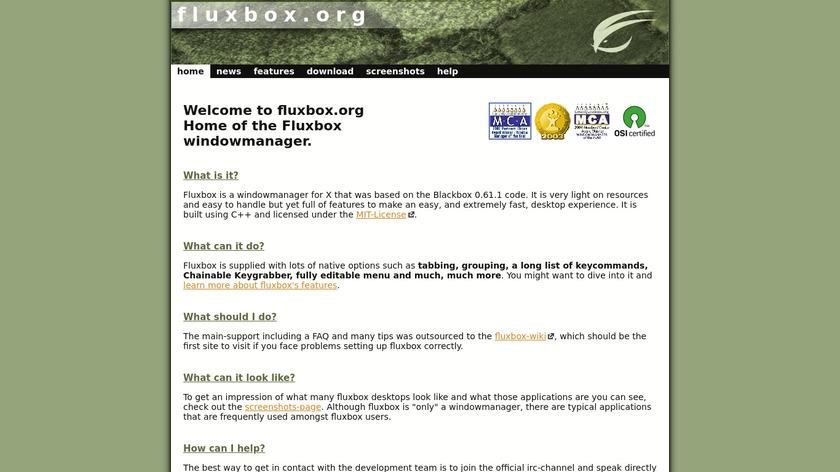 Fluxbox Landing Page