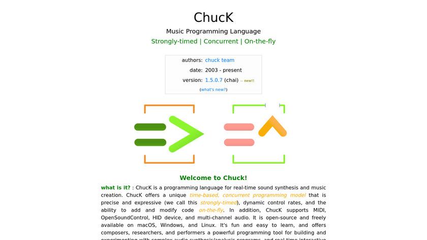 ChucK Landing Page