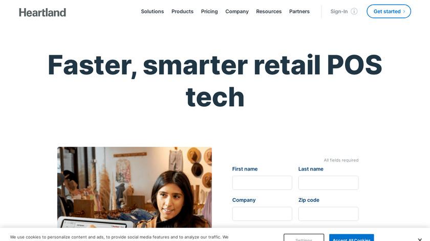 Heartland Retail Landing Page