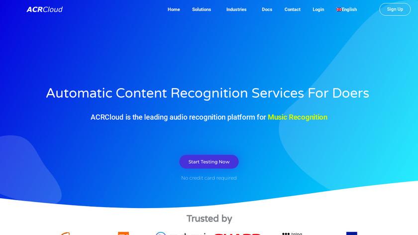 ACRCloud Landing Page