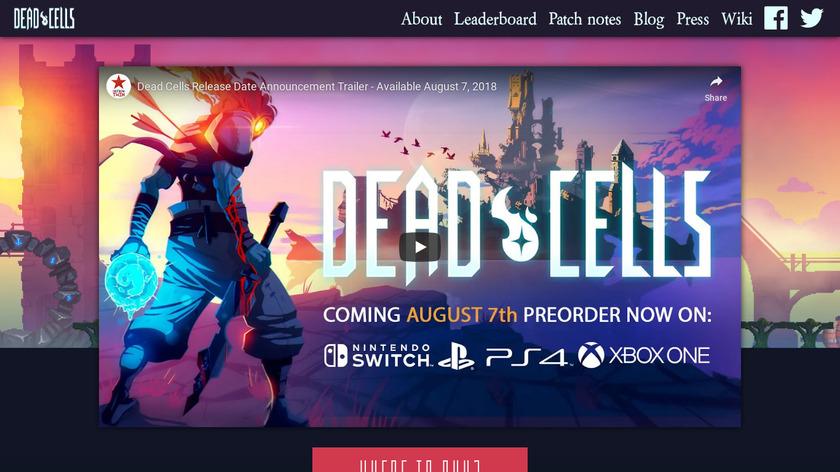 Dead Cells Landing Page