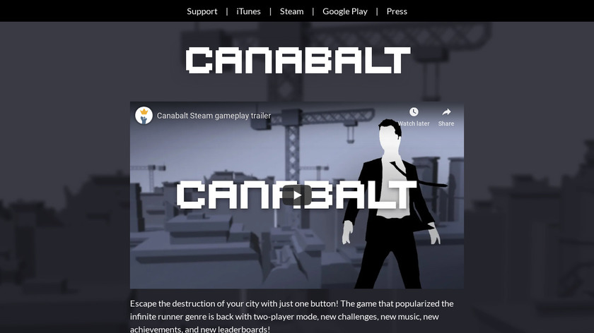 Canabalt Landing Page