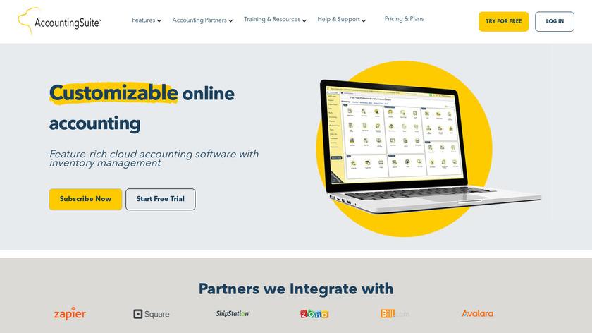AccountingSuite Landing Page