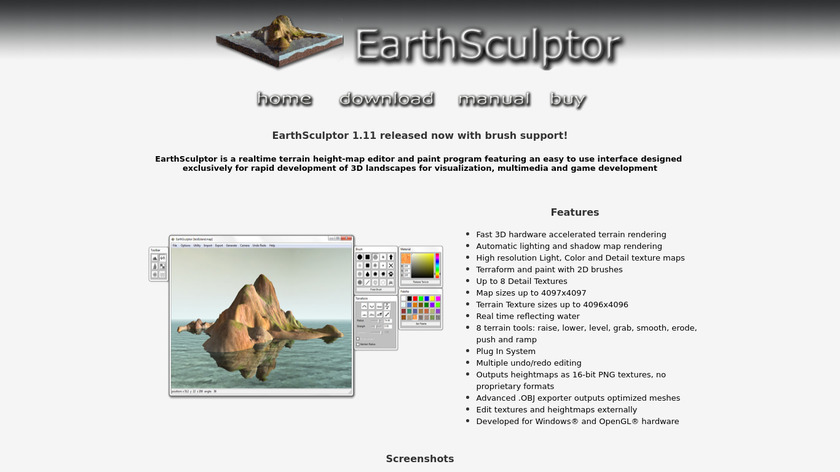 EarthSculptor Landing Page