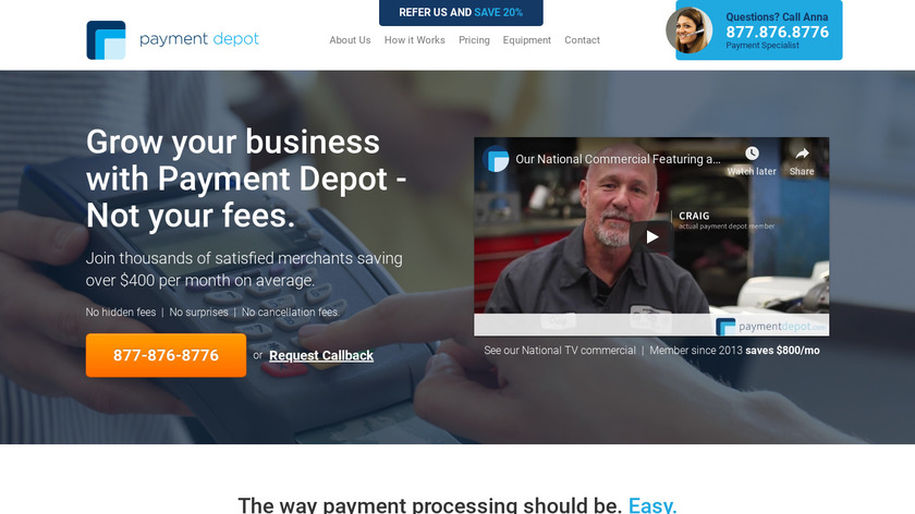 Payment Depot Landing Page