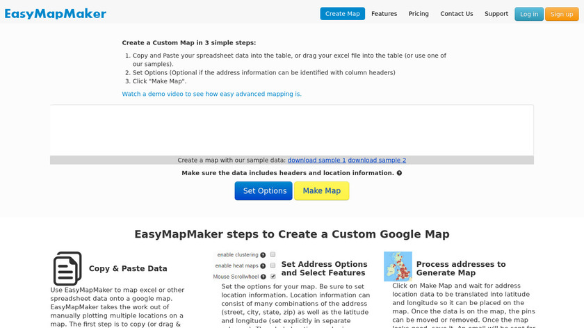 EasyMapMaker Landing Page