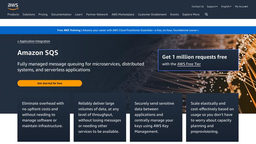 Amazon SQS Landing Page