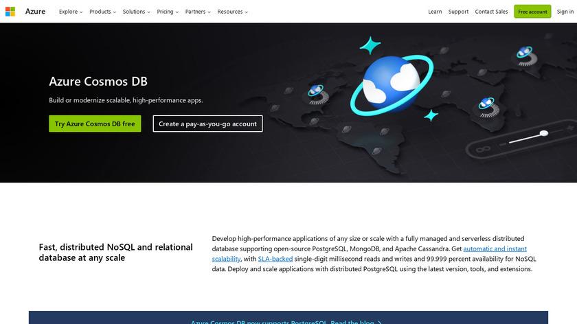 Azure Cosmos DB Landing Page