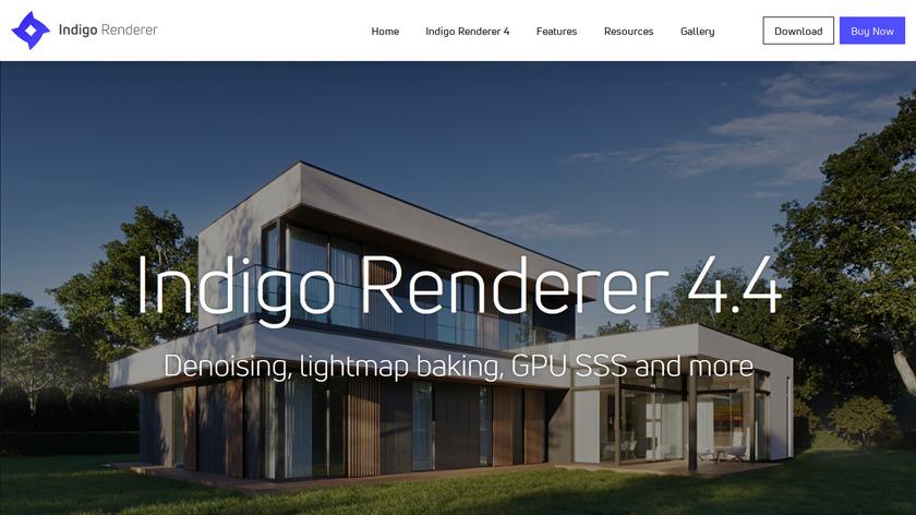 Indigo Renderer Landing Page