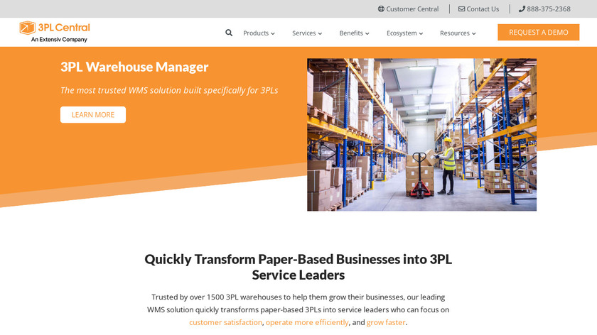 3PL Warehouse Manager Landing Page
