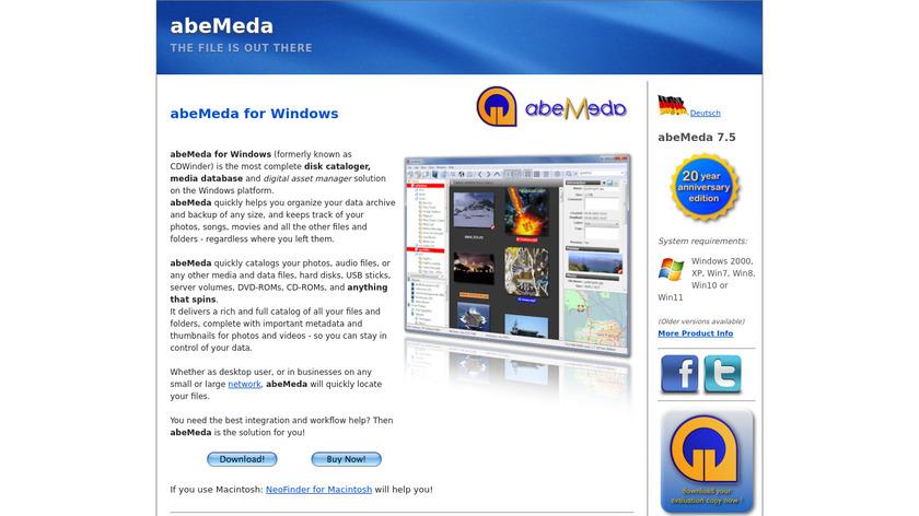 abeMeda Landing Page