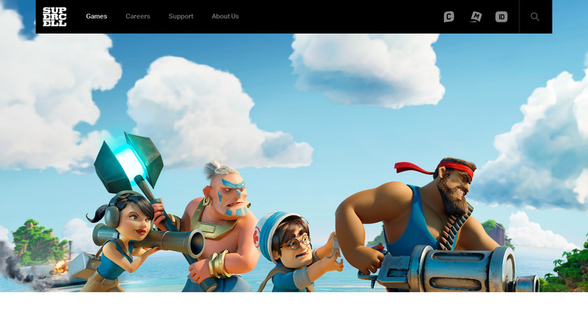 Boom beach Landing Page
